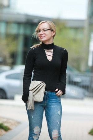 ripped Zara jeans
