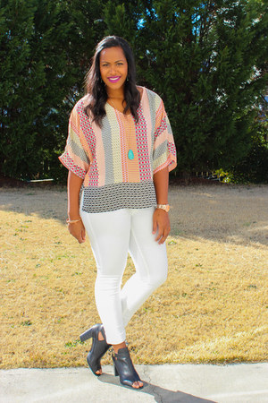 Payless boots - white American Eagle jeans - Forever 21 blouse