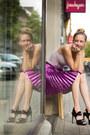Pleated-skirt-lashes-of-london-skirt-heartbreaker-asos-bodysuit