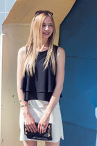 layers Zara shirt - clutch Accessorize bag - Zara sandals
