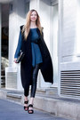 Clutch-zara-bag-black-long-vest-zara-vest-blue-silk-zara-blouse