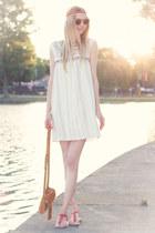 hippie ethno Mango dress - wooden sunnies Kerbholz sunglasses - Mango sandals