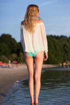 bikini Accessorize swimwear - Zara bag - Zara sandals - Zara blouse