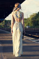 maxi dress Zara dress - Sacha sunglasses - flip flops H&M sandals