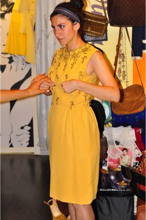 mustard memories dress