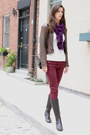 Dark-brown-born-on-concept-boots-crimson-oxblood-zara-jeans