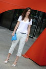 White-zara-jeans-blue-clutch-american-apparel-bag-white-thrifted-wedges