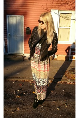 patterned maxi vintage dress - Dolce Vita boots