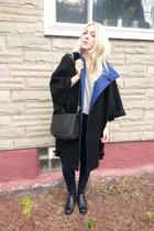 black vintage coach purse - navy J Brand jeans - silver Helmut Lang sweater
