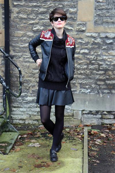 leather bomber Topshop jacket