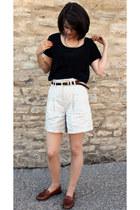Reiss shorts - russell & bromley flats - Gap t-shirt