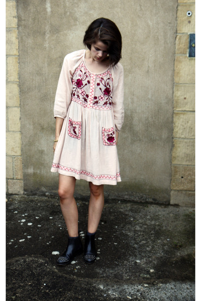 French Connection dress - Topshop boots