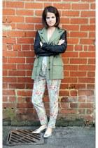 Zara blazer - flowery joggers Zara pants