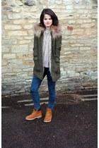 timberlands Timberland boots - Topshop coat