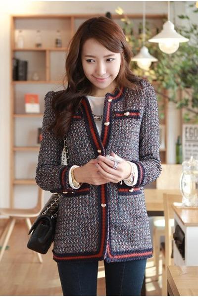 2557978d6b9a Classical Tweed Hi Korean Fashion Blazers
