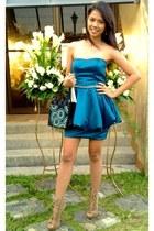 AmourManila Argene lace-up bootie boots - AmourManila Dress dress - Incense bag