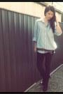 Black-avail-boots-black-black-tights-topshop-leggings-blue-jcrew-shirt-bro