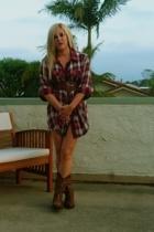 Libian dress - forever 21 belt - boots