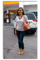 Louis Vuitton bag - Guess pants - Forever21 blouse - Mendrez wedges