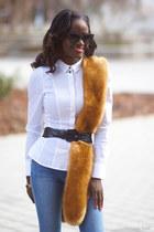 hm shirt - hm jeans - Zara scarf