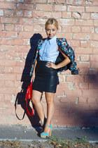 pull&bear jacket - Zara skirt - Bershka ring - Stradivarius heels