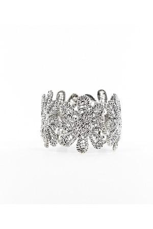 silver flowers wire INPINKcom bracelet