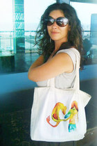 white INVERTED COMMAS bag