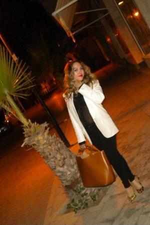 Mango blazer - Koton shirt - Zara bag - dune heels - Zara pants