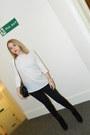 Zara-pants-topshop-boots-chanel-bag-zara-blouse-calvin-klein-watch