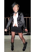 Claires by Icing hat - Papayaclothingcom jacket - Foreve21 skirt - Torridcom boo