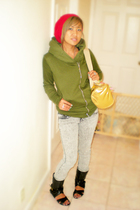 made in china jacket - Wet Seal hat - Gapans Off the Wall purse - made in china