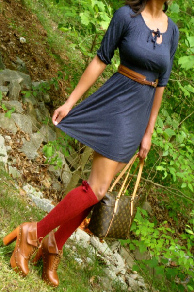 brown leather jeffrey cbell boots navy blue dresses