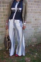 stripe f people pants
