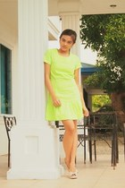 lime green Sassy pink dress