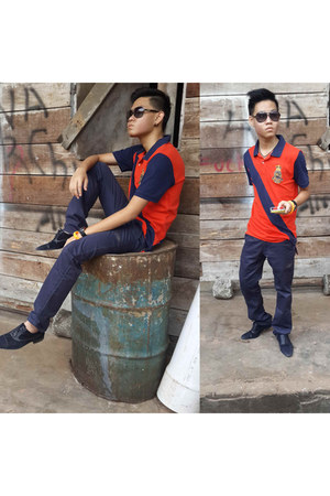 Zara shoes - Ralph Lauren shirt - Zara pants - ray-ban glasses