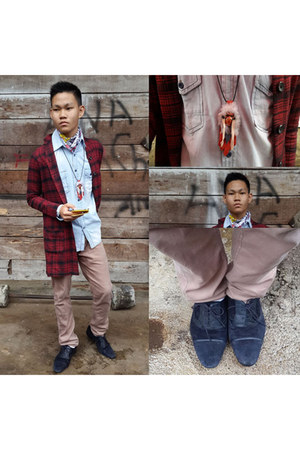H&M coat - Topman scarf - Zara pants