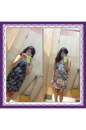 blue cotton sm department store dress