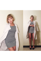 H&M coat - Forever 21 dress - H&M heels