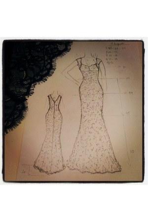 green lace I&W dress