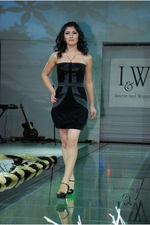 black I&W dress