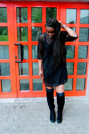 Boohoo dress - H&M boots