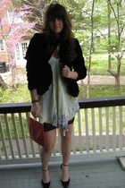 thrifted blazer - Urban Outfitters shirt - Sonia Rykiel skirt - vintage purse