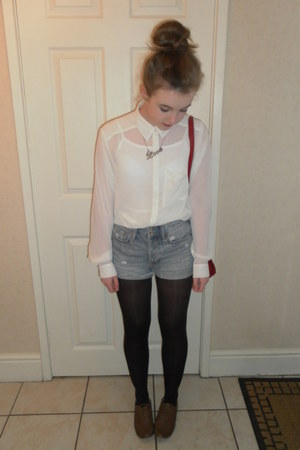 H&M shirt - Topshop bag - H&M shorts