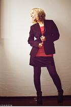 lindex skirt - Norlyn panties - lindex t-shirt - Sand blazer