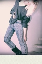 H&M sweater - Cheap Monday jeans - vagabond shoes