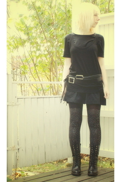 lindex dress - Filippa K top - second hand belt - vagabond shoes - Vogue tights