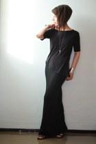 black asymmetrical weekday t-shirt - silver cuff H&M bracelet