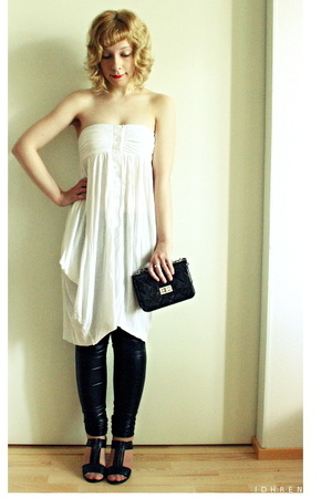 GINA TRICOT dress - Bianco shoes - GINA TRICOT purse - Ida Sjstedt pants