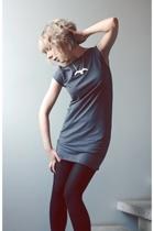 American Apparel dress - Vogue leggings - titiMadam necklace