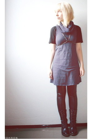 American Apparel dress - lindex t-shirt - second hand belt - American Apparel pa